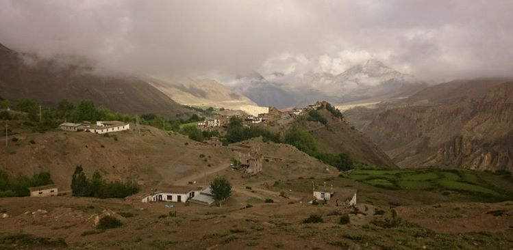 Jharkot village on The Way down to Jomsom